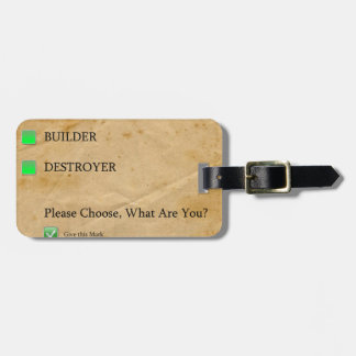 Psicotest Builder destroyer nice Question Tags For Luggage