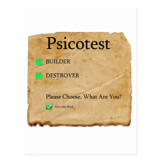 Psicotest Builder destroyer nice Question Postcard