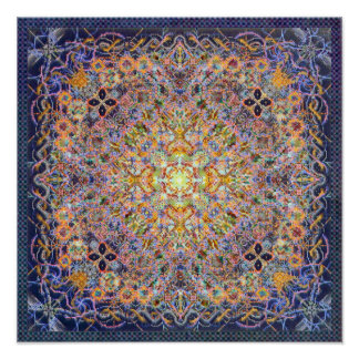 Psidereal Centerpeace Matrix Psychedelic Poster
