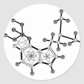 Psilocybin 1 pegatina redonda