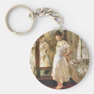 Psique Berthe Morisot AR fina Llavero Redondo Tipo Pin