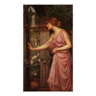Psique pre Raphaelite de Juan W. Waterhouse Poster
