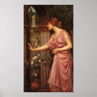 Psique pre Raphaelite de Juan W. Waterhouse Póster
