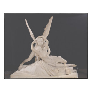 Psique restablecida por el beso del Cupid 1787-93 Impresión En Madera