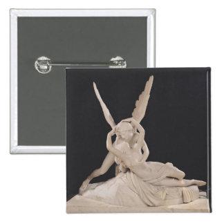 Psique restablecida por el beso del Cupid 1787-93 Pin Cuadrado