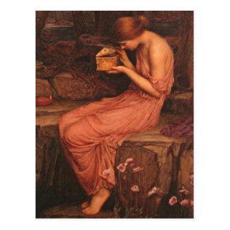 Psique y caja de oro tarjeta postal