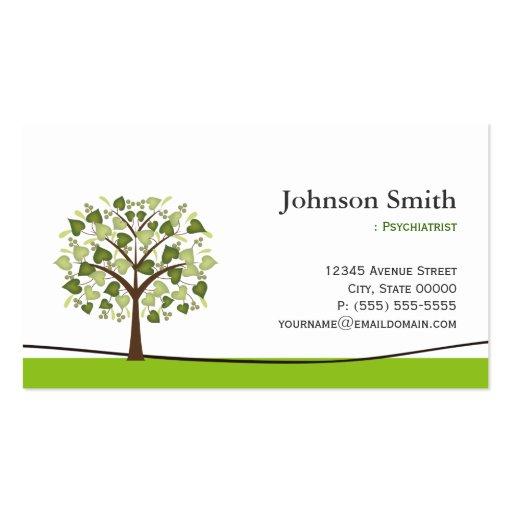 Psiquiatra - árbol elegante del deseo plantilla de tarjeta de negocio