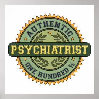 Psiquiatra auténtico póster