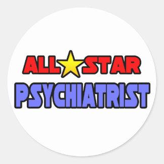 Psiquiatra de All Star Pegatina Redonda