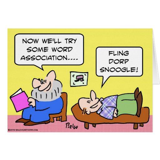 psiquiatra de la asociación de palabra felicitaciones