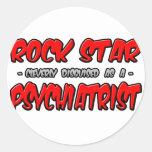 Psiquiatra de la estrella del rock… pegatinas redondas