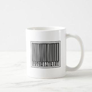 Psiquiatra del código de barras taza básica blanca