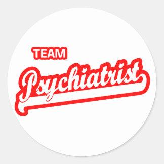 Psiquiatra del equipo pegatina redonda