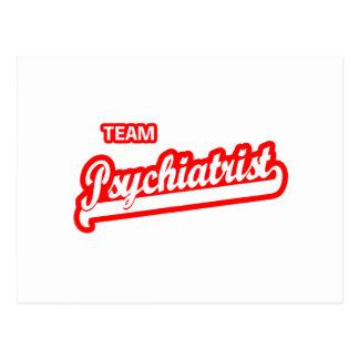 Psiquiatra del equipo tarjetas postales