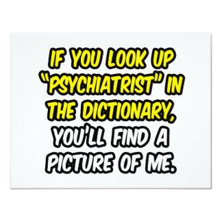 """Psiquiatra en diccionario… mi imagen invitación 4.25"""" x 5.5"""""""