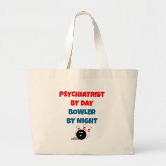 Psiquiatra por el jugador de bolos del día por noc bolsas de mano