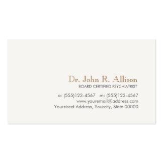 Psiquiatra profesional simple y elegante plantilla de tarjeta personal