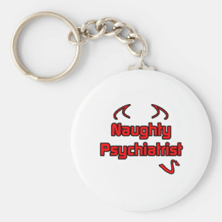 Psiquiatra travieso llavero redondo tipo pin