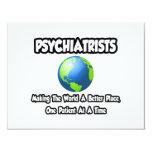 Psiquiatras… que hacen el mundo un mejor lugar invitación 10,8 x 13,9 cm