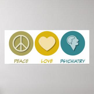 Psiquiatría del amor de la paz póster