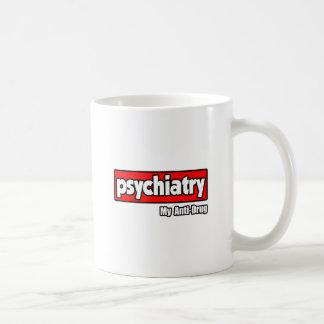 Psiquiatría… mi antinarcótico taza básica blanca