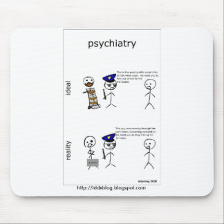 Psiquiatría Mousepad cómico Tapetes De Ratones