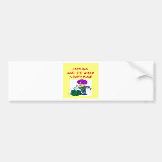 psíquico etiqueta de parachoque
