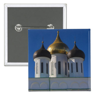 Pskov el Kremlin y catedral 2 de la trinidad Pin Cuadrada 5 Cm