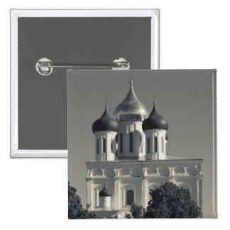Pskov el Kremlin y catedral de la trinidad Pin Cuadrada 5 Cm