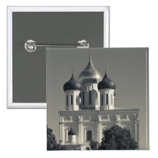 Pskov Kremlin and Trinity Cathedral Pinback Buttons