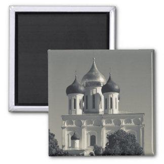 Pskov Kremlin and Trinity Cathedral Fridge Magnets