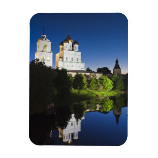 Pskov Kremlin and Trinity Cathedral reflected Flexible Magnet