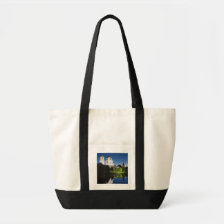 Pskov Kremlin and Trinity Cathedral reflected Tote Bag