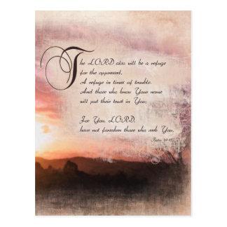Pslams & Beautiful Sunsets / Psalms 9:9-10 Postcard