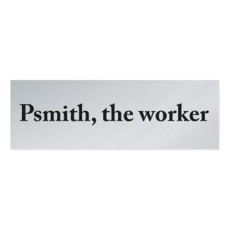 Psmith, la tarjeta del perfil del trabajador tarjetas de visita mini