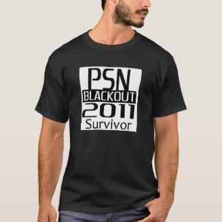 PSN Blackout 2011 Survivor T Shirt - Black