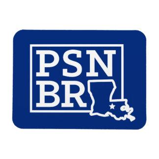 PSN BR White on Blue State Magnet