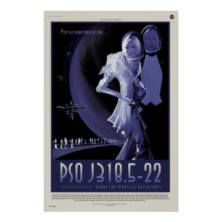PSO J318.5-22, Where the Nightlife Never Ends Poster