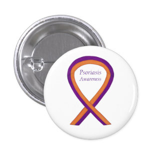 Psoriasis Awareness Ribbon Custom Art Pin Buttons