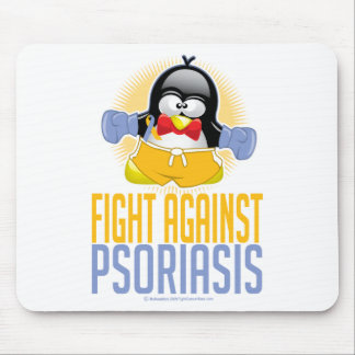 Psoriasis Boxing Penguin Mouse Pad