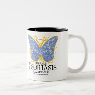 Psoriasis Butterfly Two-Tone Coffee Mug