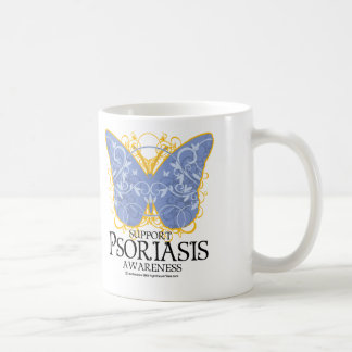 Psoriasis Butterfly Classic White Coffee Mug