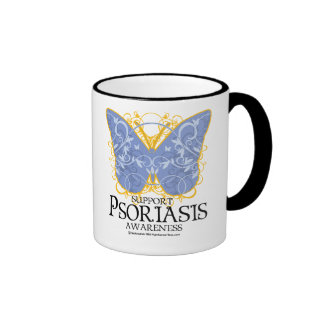 Psoriasis Butterfly Ringer Mug