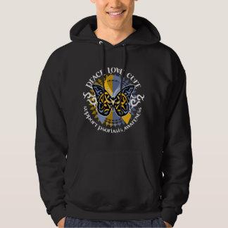 Psoriasis Butterfly Tribal 2 Hoodie