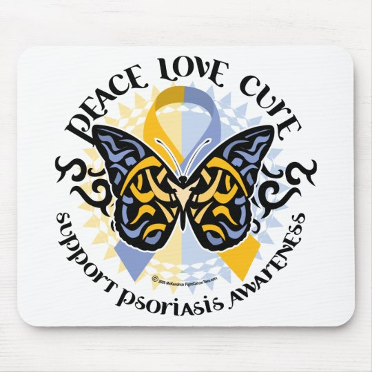 Psoriasis Butterfly Tribal 2 Mouse Pad