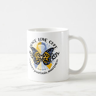 Psoriasis Butterfly Tribal 2 Classic White Coffee Mug