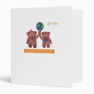 """Psoriasis can be a bear"" 3 Ring Binder"