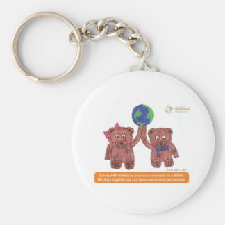 """""""Psoriasis can be a bear"""" Basic Round Button Keychain"""