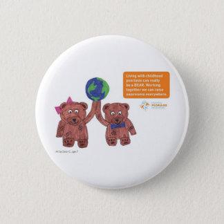 """""""Psoriasis can be a bear"""" pin"""