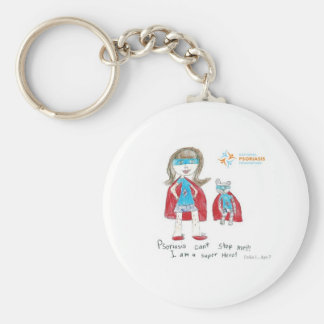 """Psoriasis can't stop me"" Keychain"